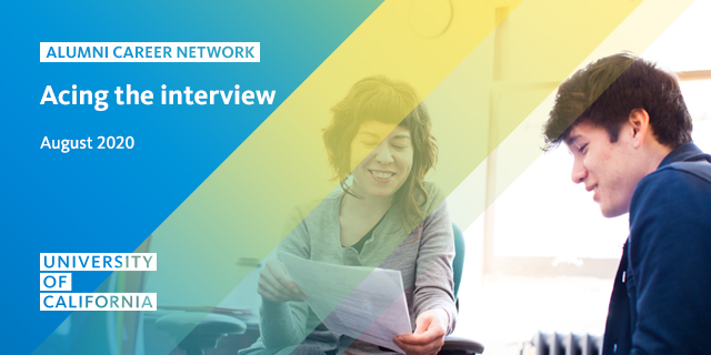 UC Alumni Career Network Webinar: Acing the Interview
