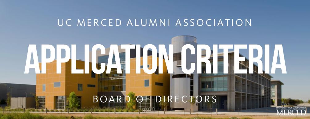 UCMAA Board Application Criteria
